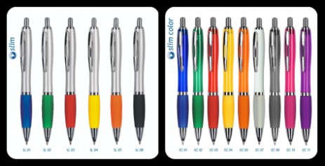 Kolekcja tanich, metalowych oraz plastikowych długopisów promocyjnych. Duży wybór kolorów oraz modeli.